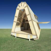 Live in a recycled cardboard abode