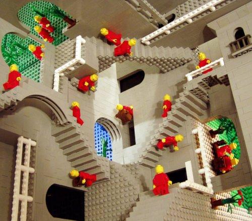 Escher-legos