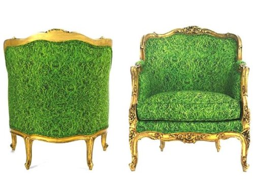A chair made of grass