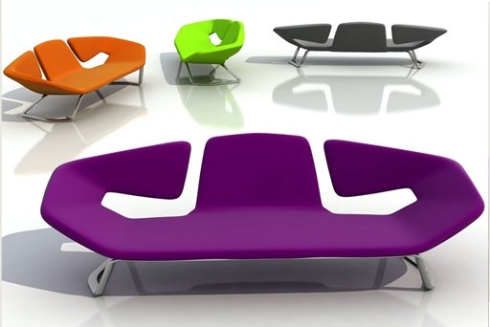 Vibrant and modern pop art furniture from Amin Design is available in