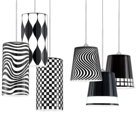 black and white lamps