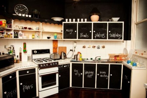 painting ideas for kitchen cabinets. Of course, chalkboard paint