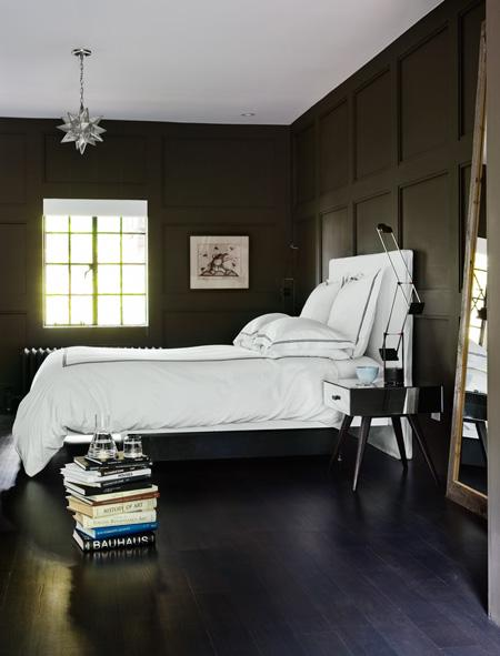 charcoal gray bedroom