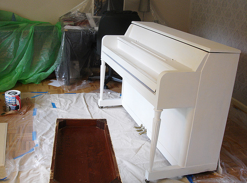 painted piano primed