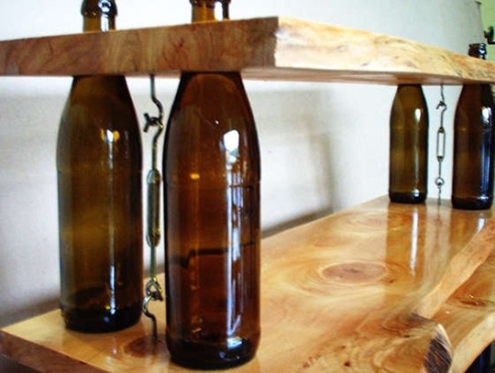 wine bottle shelves