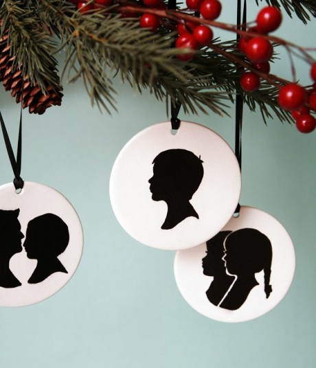 silhouette ornaments 1