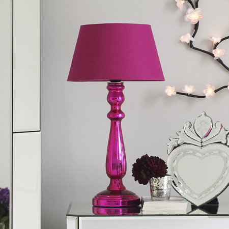 Home design lamp shades pink lamp shades on this pink mercury table light with its matching pink shade would pop aloadofball Images