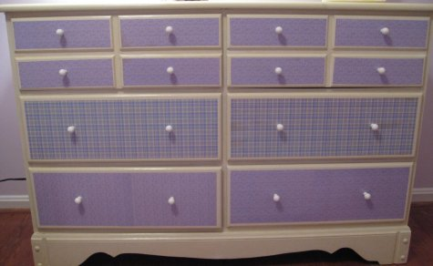 mod podge dresser after