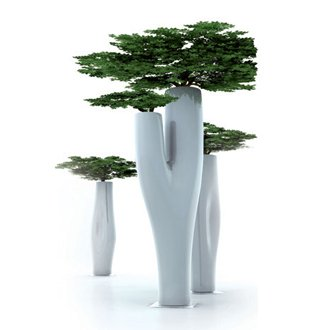 tree vase, tree pot
