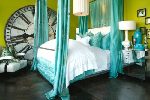 turquoise bedroom