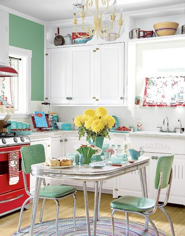 turquoise kitchen details