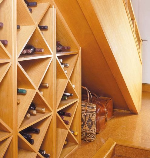 under stair wine rack