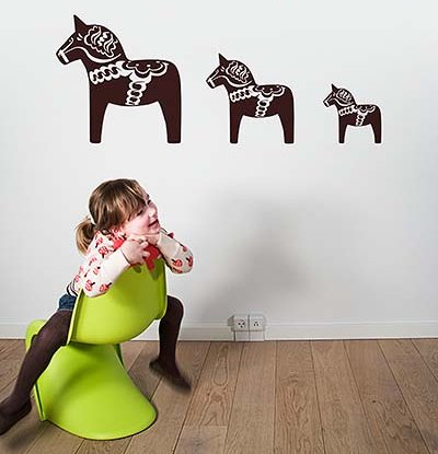dala horse decals