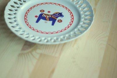 dala horse plate