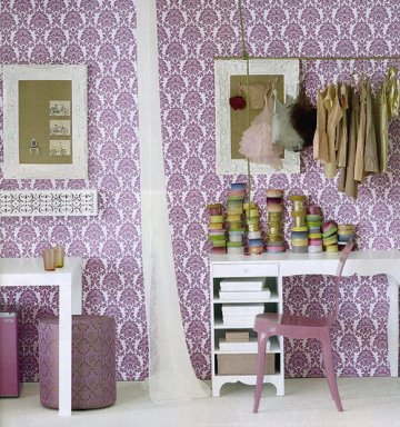 feminine laundry room, craft room