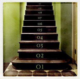 numbered stairs 2