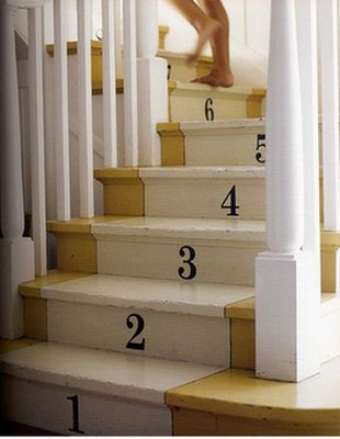 numbered stairs 3