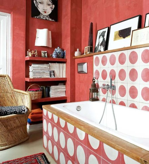 polka dot bathroom 2