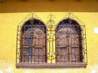 wrought iron windows