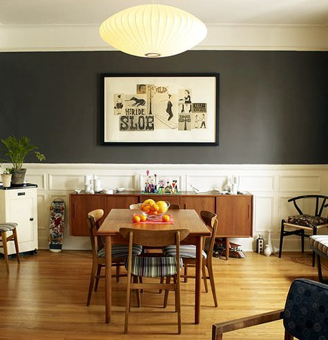 gray dining room fromdesignsponge