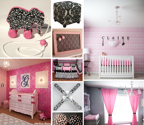 White Bathroom Accessories on Black White And Pink Nursery Decor   Manolo For The Home