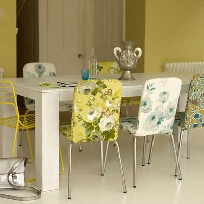 Dining Room on Fabric Steel Chairs Solid Wood Table Dining Room Design Idea Jpg