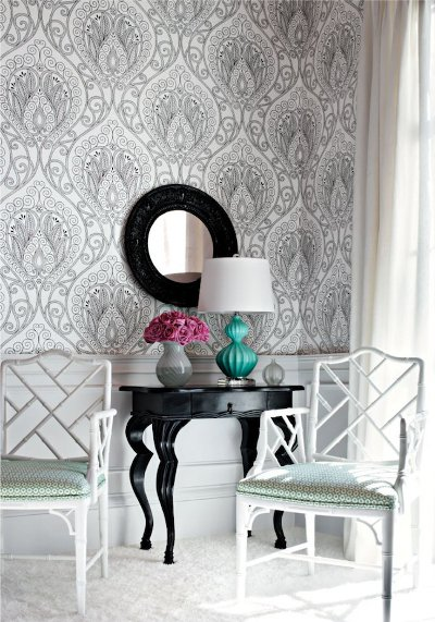 patterned wallpaper. large pattern wallpaper in