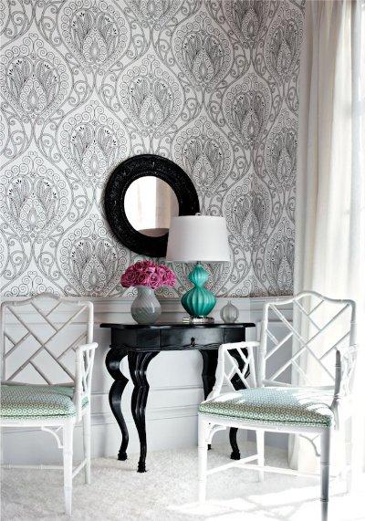 patterned wallpaper. large pattern wallpaper in