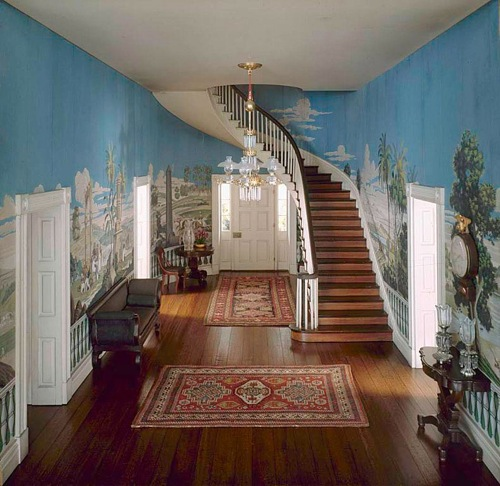 French Wallpaper in Andrew Jackson's Home, the Hermitage, Nashville, TN