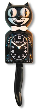 Kit-Cat WallClock in Black